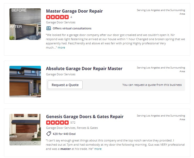 , Top 10 Best Garage Door Repair in Los Angeles, CA
